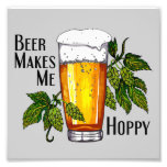 Beer Glass & Hops with Text Photo Art