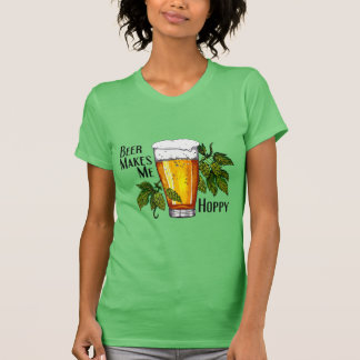 Beer Glass & Hops with Text T Shirt