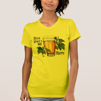 Beer Glass & Hops with Text T Shirts