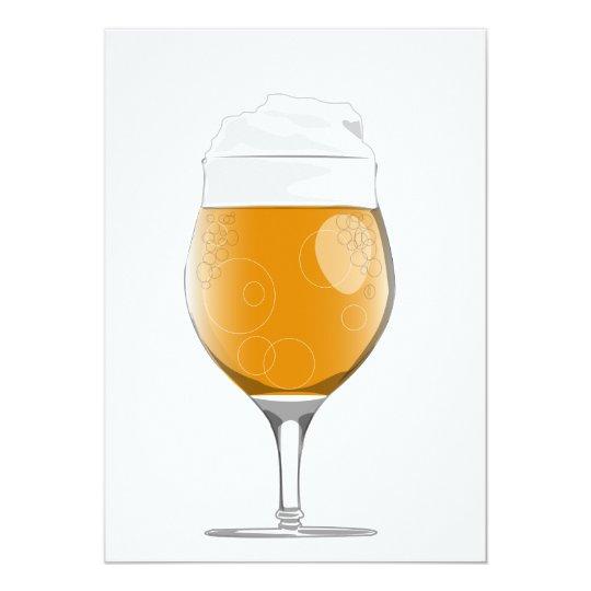 Beer glass invitation