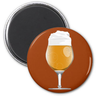 Beer glass magnet