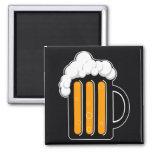 Beer glass magnet black