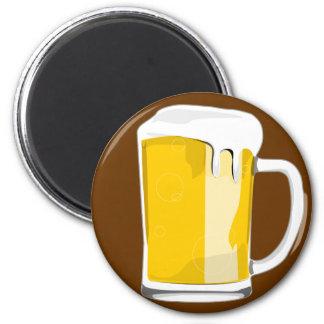 Beer glass mug magnet