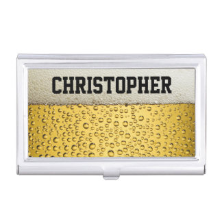 Beer Glass Personalize Business Card Holder