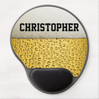 Beer Glass Personalize Gel Mousepads