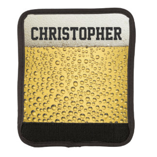 Beer Glass Personalize Luggage Handle Wrap