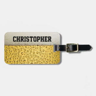 Beer Glass Personalize Travel Bag Tags