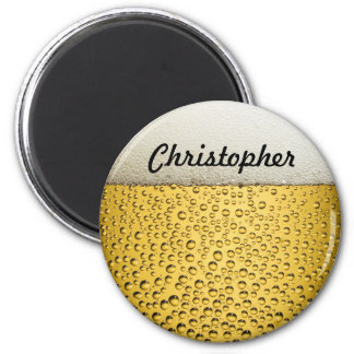 Beer Glass Personalize Photo 2 Inch Round Magnet