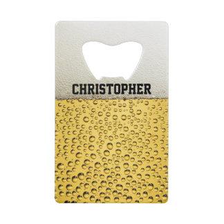 Beer Glass Personalize Wallet Bottle Opener