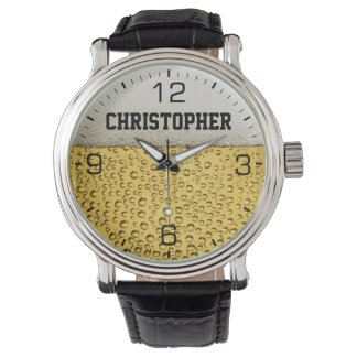 Beer Glass Personalize Wristwatch