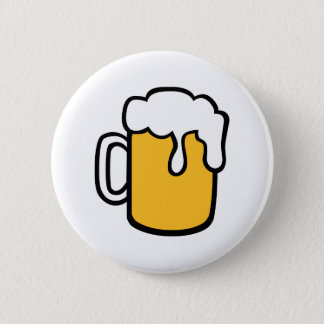 Beer glass pinback button