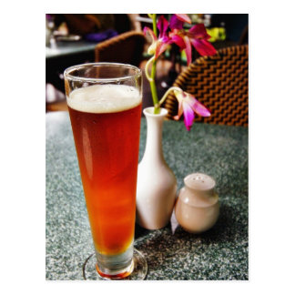 Beer Glass Postcard