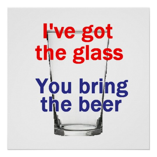 Beer Glass POSTER Print
