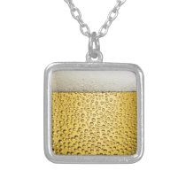 Beer Glass Silver Plated Necklace