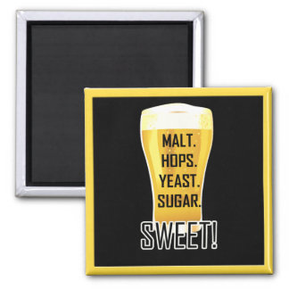 Beer Glass Sugar Sweet Funny Magnet