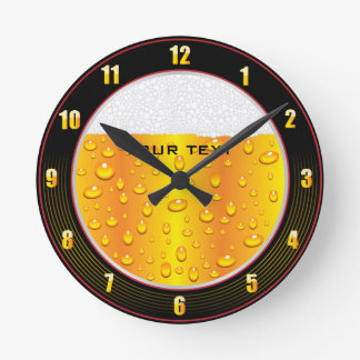 Beer Glass Wall Clock
