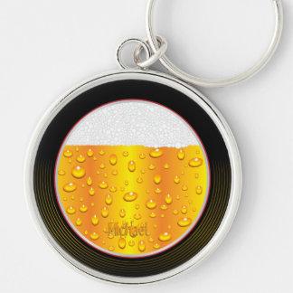 Beer Glass Wall Clock Keychain