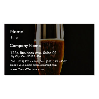 Beer Glasses Bubbles Business Card Template