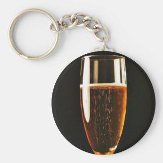 Beer Glasses Bubbles Key Chain