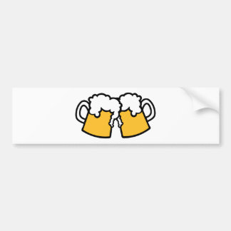Beer glasses bumper stickers