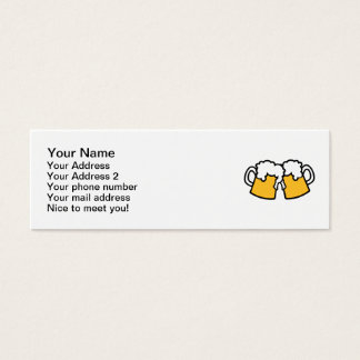 Beer glasses mini business card