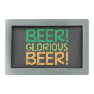 Beer! Glorious Beer! Belt Buckle