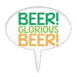 Beer! Glorious Beer! Cake Toppers