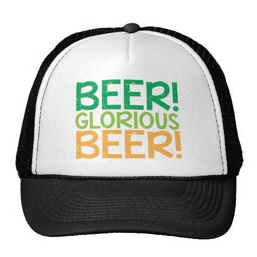 Beer! Glorious Beer! Mesh Hats