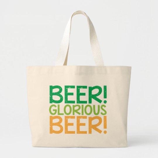 Beer! Glorious Beer! Large Tote Bag