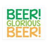 Beer! Glorious Beer! Post Cards