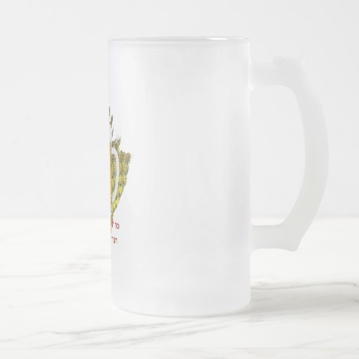 Beer...God's Gift to the Working Man Frosted Glass Beer Mug