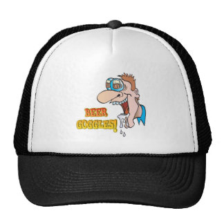 BEER GOGGLES funny drinking design Hats
