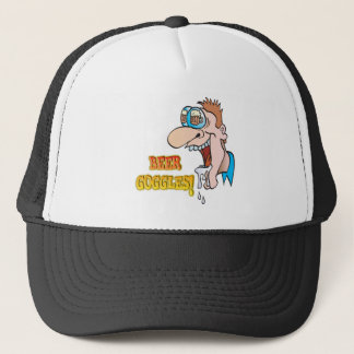 BEER GOGGLES funny drinking design Trucker Hat