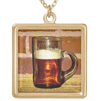 Beer Gold Plated Necklace