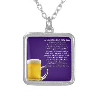 Beer - Grandad Poem Silver Plated Necklace