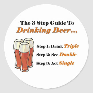 Beer Guide 2 Full Classic Round Sticker