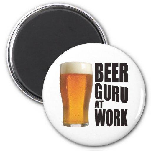 Beer Guru Fridge Magnet