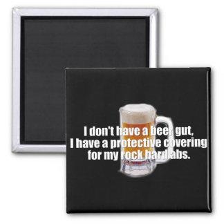 Beer Gut 2 Inch Square Magnet