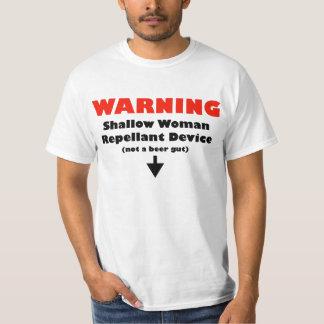 Beer Gut (Male / Black on White) T-Shirt
