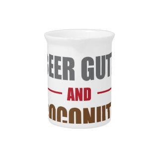 Beer Gutz And Coconutz Beverage Pitchers