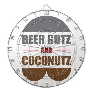 Beer Gutz And Coconutz Dartboard With Darts