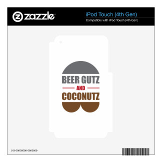 Beer Gutz And Coconutz Decals For iPod Touch 4G