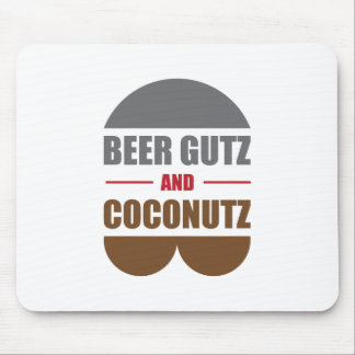 Beer Gutz And Coconutz Mouse Pad