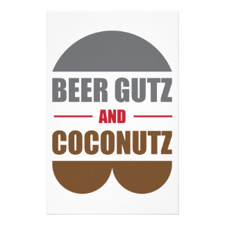 Beer Gutz And Coconutz Stationery