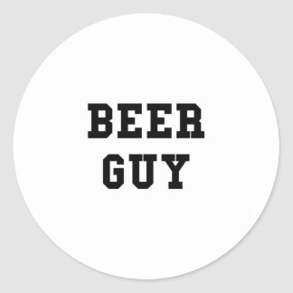 Beer Guy Round Stickers