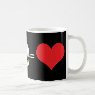 beer + hamburger = love mug
