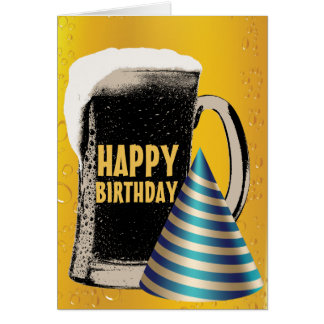 Beer Happy Hour Happy Birthday Stationery Note Card