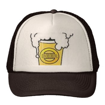 Beer Hat  Brown And White  Customize by creativeconceptss at Zazzle