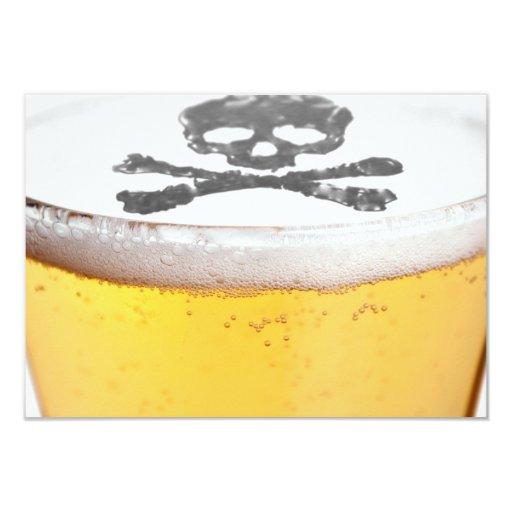 Beer Head Bubbles Card