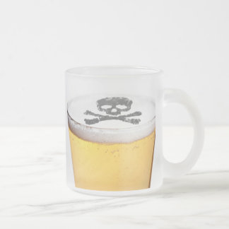 Beer Head Bubbles Frosted Glass Coffee Mug